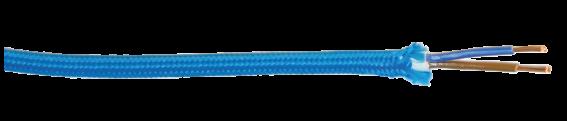GTL - LaMatassina - Foto sezioni - rinominate con nome cavo - GTL web_GTL - Sezione cavo - LaMatassina - H03VV-F tessile 2x0,75 - 5m - turchese